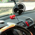 12V Mini Portable Car Fan Auto Cooler Fan Power by Cigarette Lighter Socket with Suction Cup car air conditioner Black