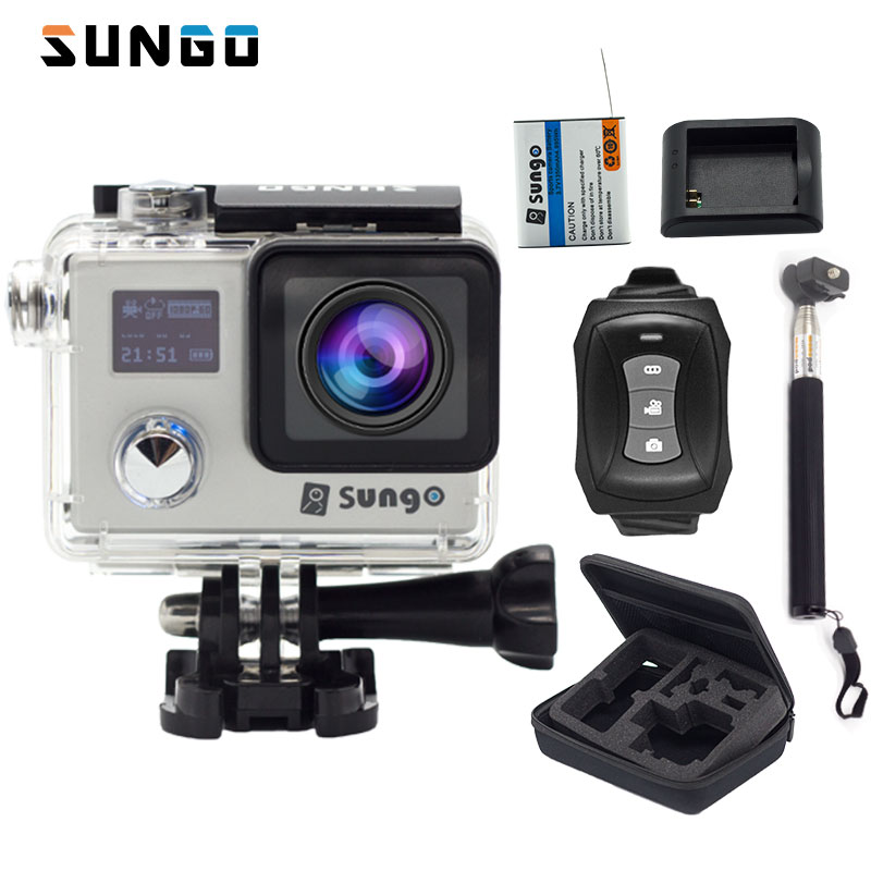 SUNGO diving car Action camera Ultra HD 4K / 24fps WiFi 2.0 170D underwater DV Camera waterproof  Helmet Sport  camera mini cam attention mini waterproof action camera dv 126 170d viewing angle full hd 1080p wifi remote control fantastic sport camera