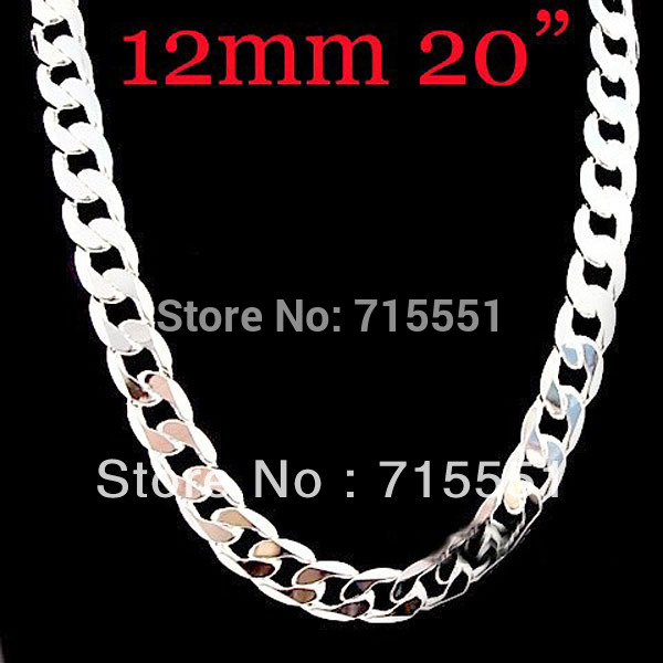 12mm Cool Rock Men Necklaces Promotion Hot New Items S Jewelry High Quality 925 Sterling Silver Chain Necklace In From