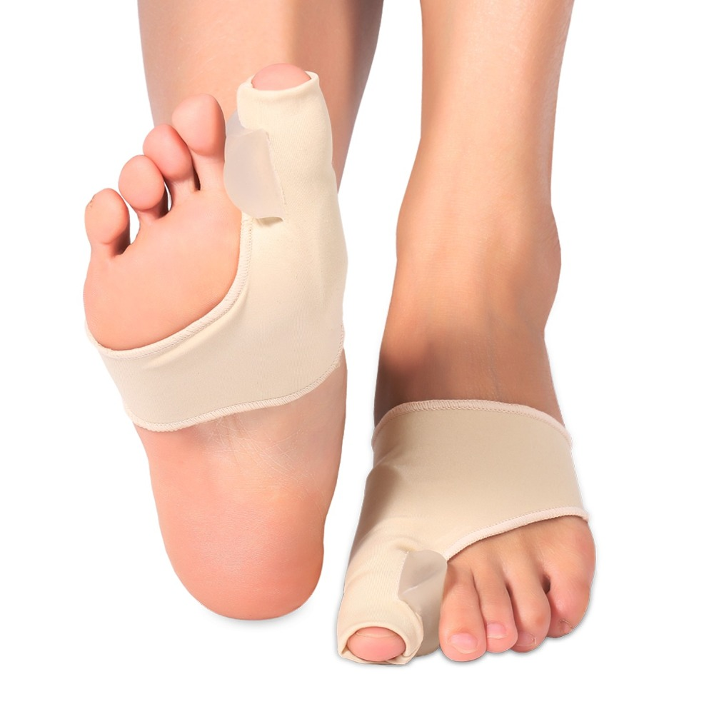 2PCS Leg Warmers Gel Protection Sleeve Silicone Toes Separator Foot Bunion Support Pedicure Orthopedic Hallux Valgus Correction