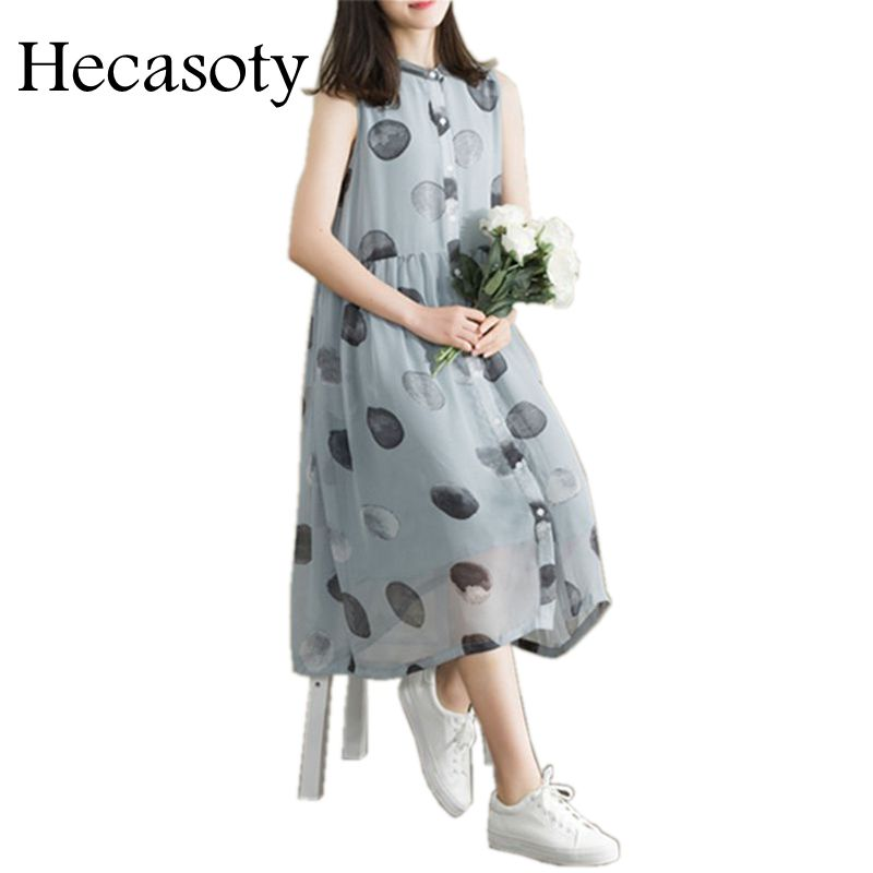 best collection sells customers first US $20.97 40% OFF Maternity Clothes 2018 New Summer Sleeveless Fresh Wave  Chiffon Dress Maternity Cloth Tops Pregnancy Clothes for Pregnant Women-in  ...