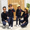 Family Matching Outfits Autumn New T-shirt Round Neck Long Sleeve Family Sweatshirt And Trousers Suit Sports Family Clothing Set