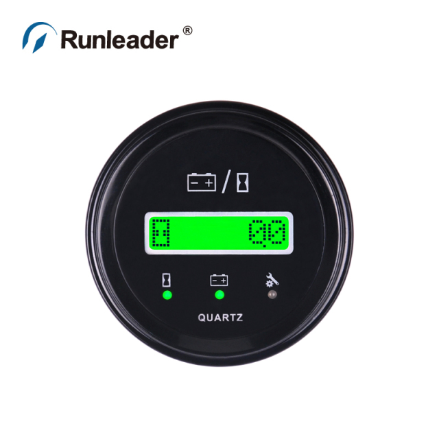 Runleader LCD BI011B Battery Indicator Hour Meter For ATVUTV Tractor Golf Carts Buggies Utility Vehicles Forklift Truck Club Car
