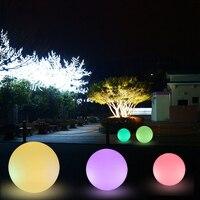 Neuheit Fernbedienung LED Garten Kugel Licht Wiederaufladbare Nacht Lichter Wasserdichte Outdoor Pool Landschaft Rasen Lampe Garland Decor