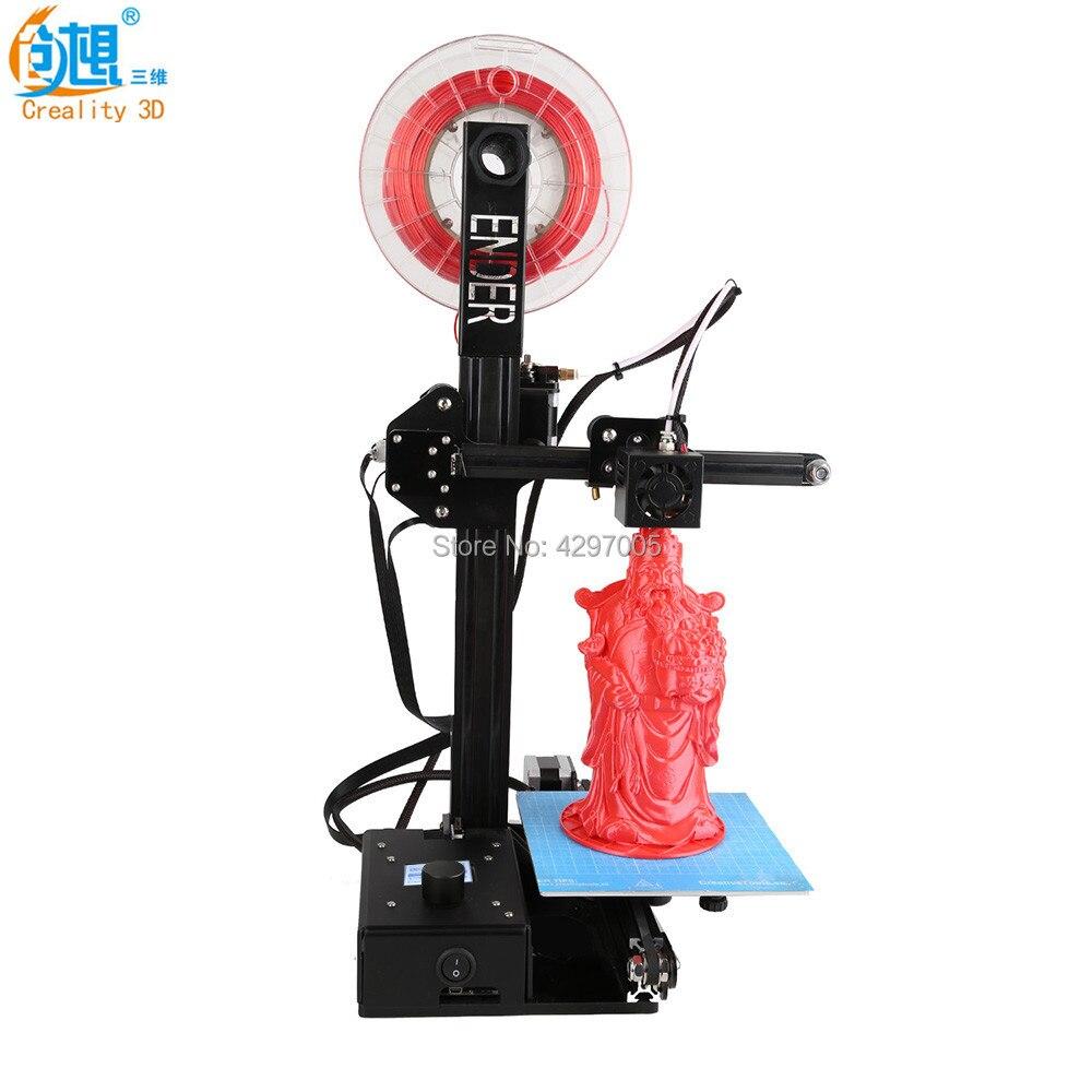 Высокая точность Полный металлический каркас CREALITY 3D impresora Ender-2 мини-принтер Плюс принт Размеры DIY 3D-принтеры комплект с флешки