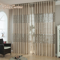 Sale Jacquard Tulle Curtain Set For Living Room Breathable 4 Colors Sheer Window Curtain Tulle Fabrics
