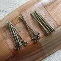 Envío Libre 30 MM 300 Unids Vintage Plateado Bronce Joyería de Ojos/Bola/Cabeza Plana Pernos DIY Resultados de La Joyería y accesorios