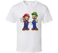 2017 New Brand Clothing Super Mario Brothers Video Game T Shirt Print Tops Tee Shirt Hip
