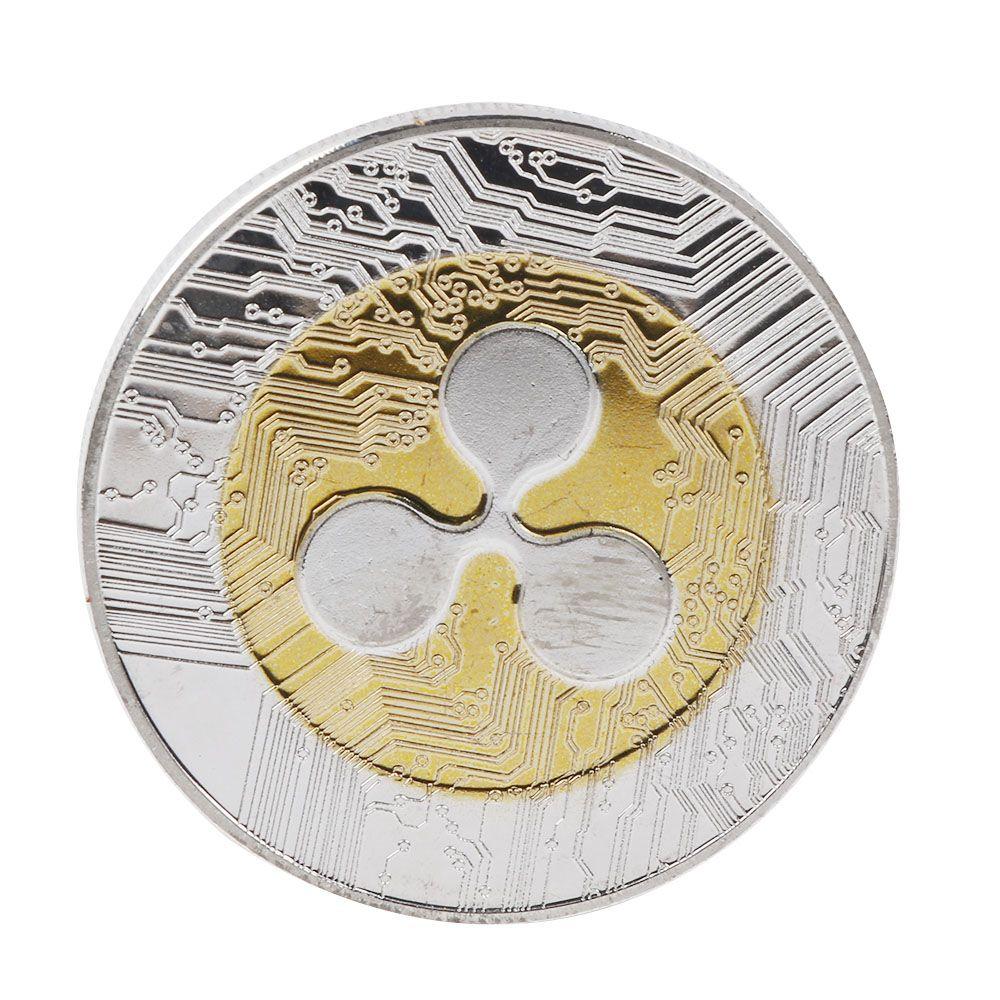 Цифровая монета ряби, памятная XRP круглая Коллекционная монета, подарок