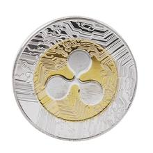 Monnaie numérique monnaie ondulée | Pièces commémoratives XRP collectionneurs ronds, pièces cadeau