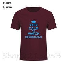 Keep Calm And Watch Riverdale Funny men t-shirt TV club male tshirt stranger things fitness rick and morty naruto dark souls top(China)