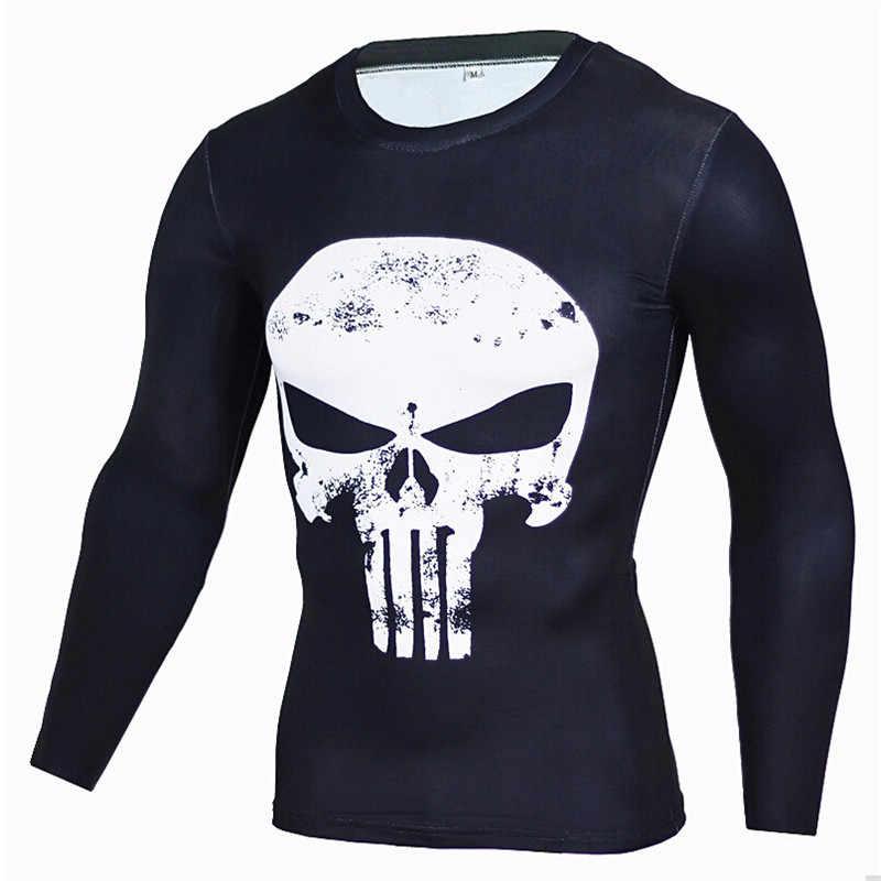 Спортивная мужская Спортивная футболка для фитнеса, бодибилдинга, дышащая спортивная мужская эластичная облегающая футболка для бега, 2018 горячая распродажа