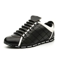 Hot!Fashion Men Casual Shoes PU Leather Men Shoes New 2018 Autumn Rubber Sole Plaid Male Footwear For Men HX179