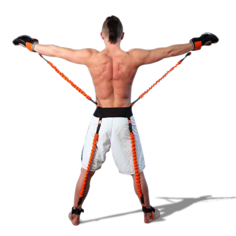 140LBS Power Boxing Resistance Bands Endurance Agility Pull Rope Crossfit Rubber Resistance Band Basketball Leap Training Rope