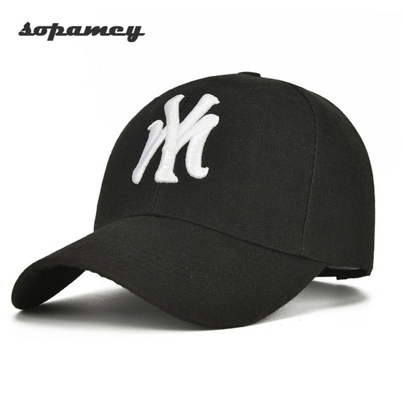 Gorra de béisbol Unisex de algodón NY hombres y mujeres Snapback sombrero de sol fresco letra ajustable casqueta gorra de hueso de deporte masculino Gorras de hueso