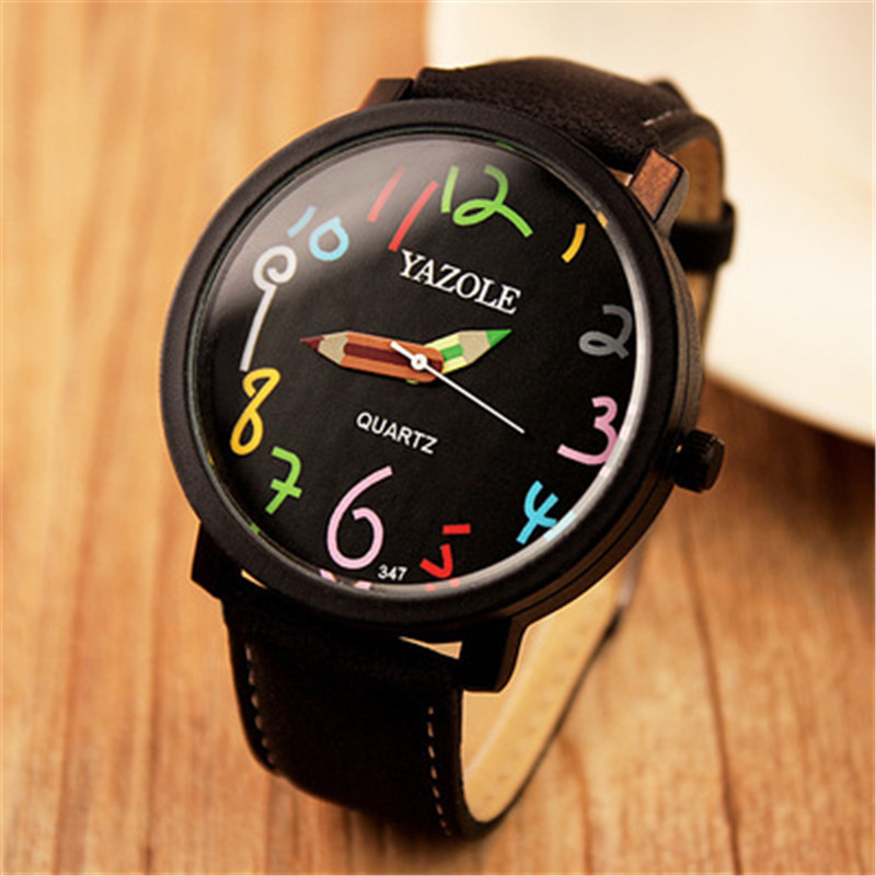 2019 New Stylish Women's Watches YAZOLE Top Brand Pencil Clock Hodinky Ladies Leather Watchband Quartz Saats Montre Femme