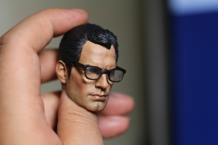 1:6 scale male Figure accessories Superman Kal-El glasses head shape carved for 12 Action figure doll,not include body;clothes 1 6 scale nude male body figure muscle man soldier model toys for 12 action figure doll accessories