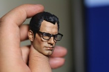 1:6 scale male Figure accessories Superman Kal-El glasses head shape carved for 12″ Action figure doll,not include body;clothes