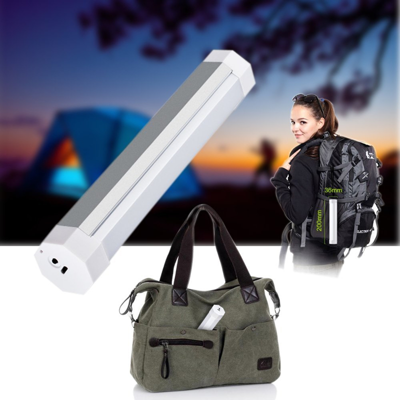 180 Lumen LED Camping Lantaarn Magnetische Zaklamp 4 Niveau Dimmen Tent LED Lamp Draagbare Camping Licht met 2600 mAh Batterij