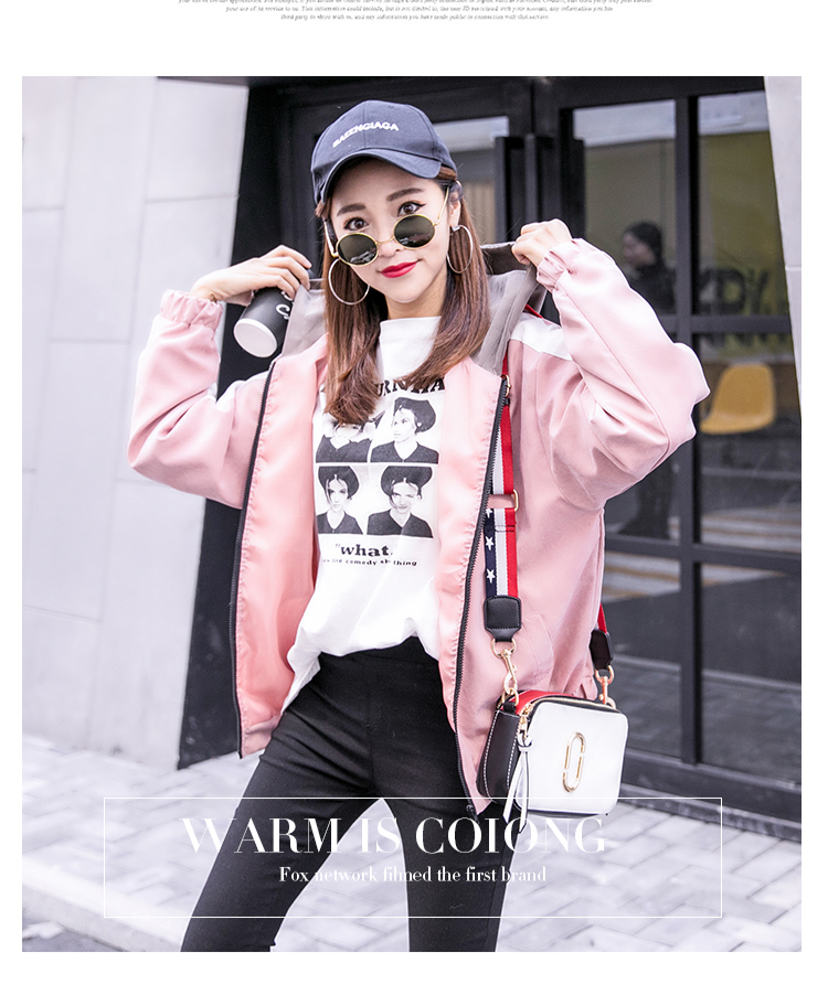 2019 Autumn Jacket Womens Streetwear Patchwork Hooded Totoro Jackets Kawaii Basic Coats harajuku Outerwear chaqueta mujer 50