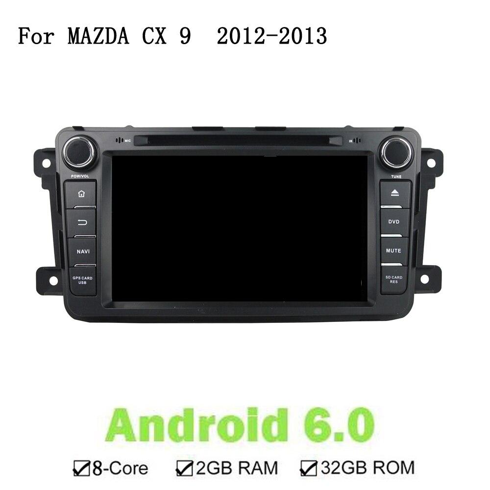 1024 Octa Core 2 ГБ Оперативная память Android 6,0 dvd-плеер для Mazda CX-9 2012-2013 радио gps навигации поддержка рулевое колесо Управление