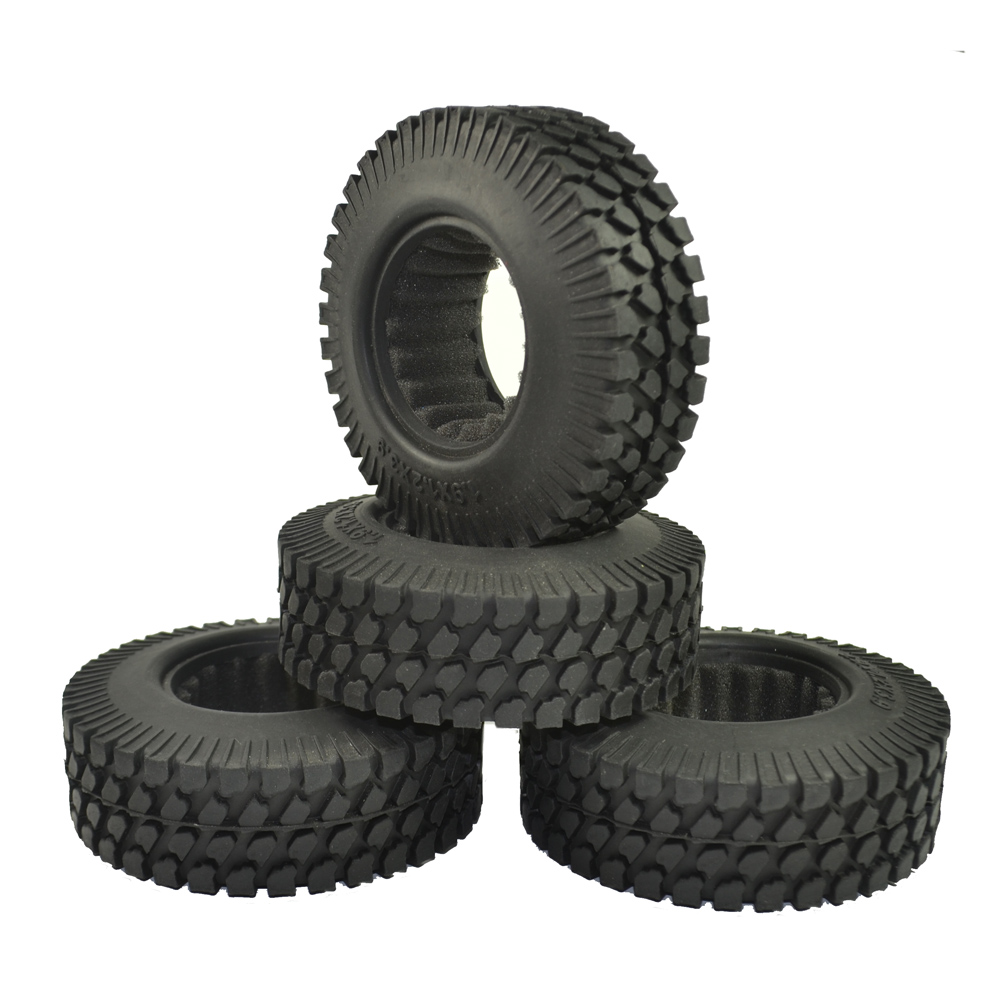 4PCS Rc Rock Crawler 1.9 Inch 98mm Tires for 1/10 RC Crawler Car Tamiya D90 SCX10 CC01 1.9 Inch Wheels 4pcs rc crawler truck 1 9 inch rubber tires