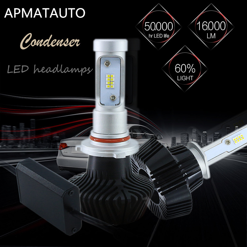 2X H1 H3 H4 H7 H8 H9 H11 880 881 9005 HB3 H10 9006 HB4 880 881 H27W 16000LM Voiture LED Phares Ampoule Tête Lampe Brouillard Lumière 6000 K