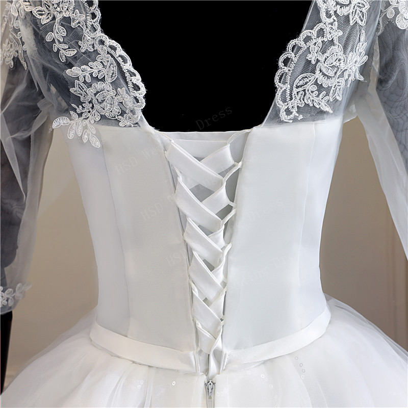 Image 5 - Real Photo Lace Embroidered Organza Tulle Sweetheart Off White 