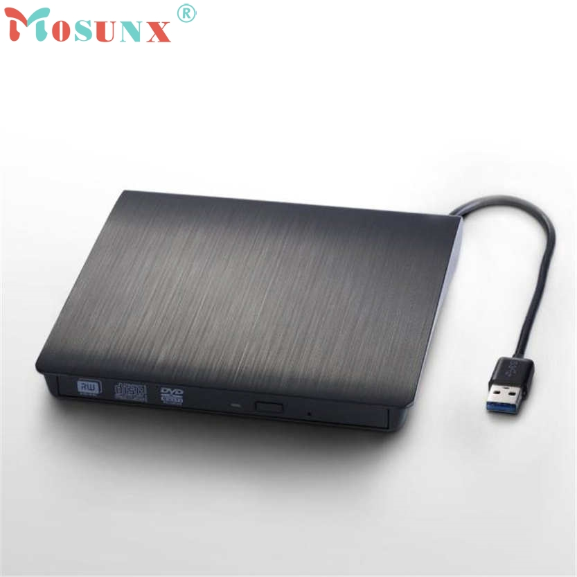 Brand New Mosunx Black External Slim USB 3.0 DVD RW DVD-ROM CD-RW DVD-RW Read Writer Burner Combo  Drive Play Mar28 usb ide laptop notebook cd dvd rw burner rom drive external case enclosure no17
