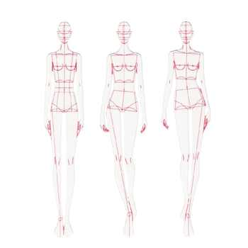 Fashion Ruler Fashion Line Drawing Human Dynamic Template for Cloth Rendering - DISCOUNT ITEM  18% OFF All Category