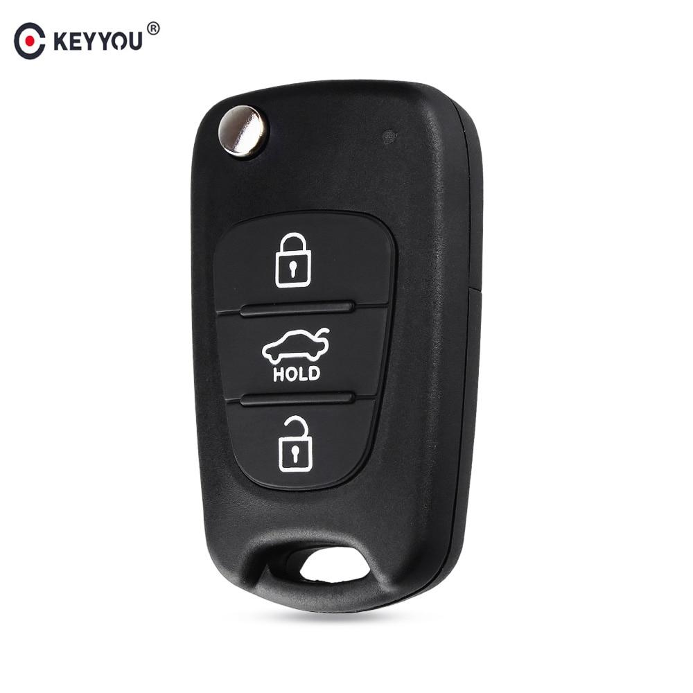 KEYYOU Shell-Cover-Case Remote-Car-Key I30 Flip IX35 Folding Hyundai Sportage Kia K2