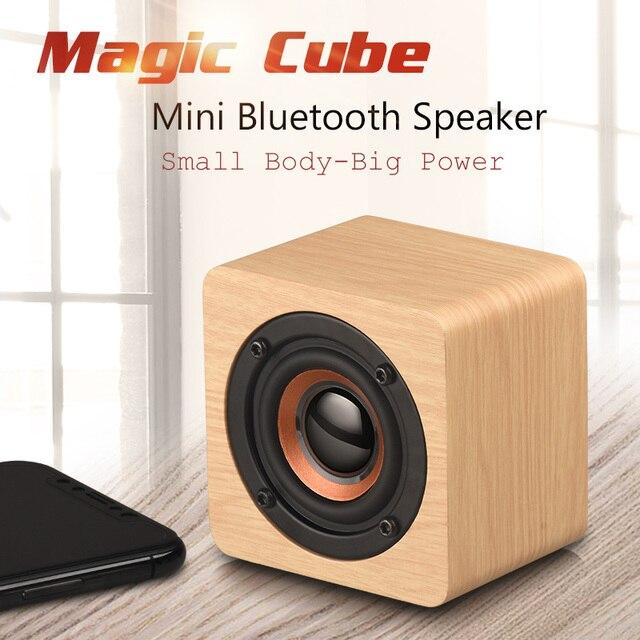 Us 1284 11 Offhot Mini Wooden Bluetooth Speaker Wireless Portable Hifi Big Power Shock Sound Soundbar Magic Cube Wood Speaker In Portable Speakers