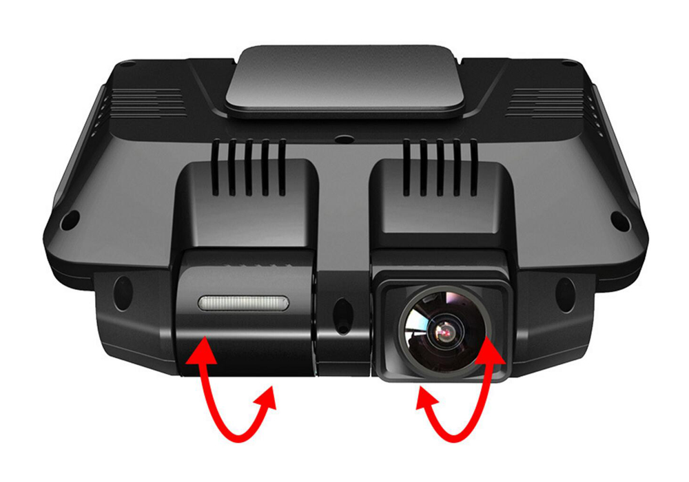ZUCZUG 4K hidden Wifi Car DVR Camera Novatek NT96660 Dash Cam,, Rear view with rotating lens pointing rear and front