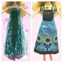 5f511fdde91664a 2 комплекта, популярная кукла принцессы для Анны + наряд Эльзы, похожее  платье из фильма, сказочное свадебное платье для девочки.