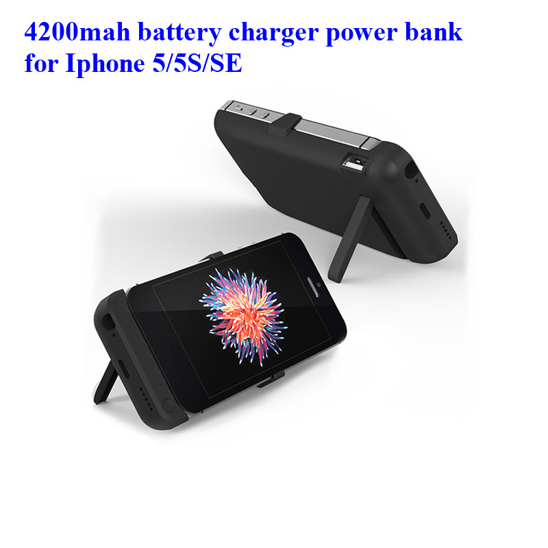 5V 1A high capacity 4200mAh fast charge Portable Charging Case For iphone5/5s/SE 3in1 ex ...