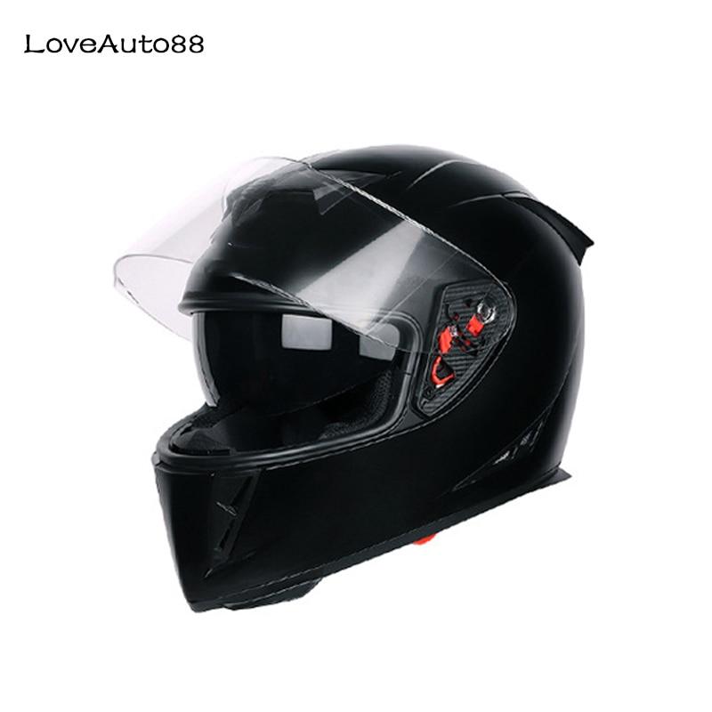 Motorcycle Helmet Full Face Motorbike Helmet Safe Racing helmet Motorcycle Helmet For Woman/Man DOT Approved-in Helmets from Automobiles & Motorcycles