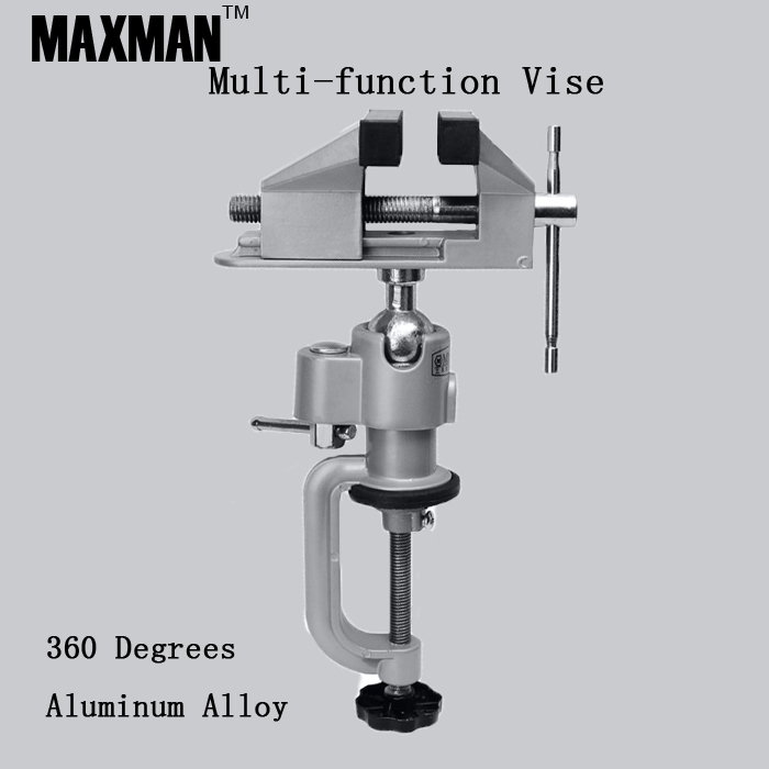 360 Degrees Aluminum Alloy Bench Clamp Vise Multi-function Electric Grinder Holder Electric Drill Fixed Stents Mini Flat Tong pro skit pd 372 aluminum alloy mini vise blue