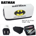 Batman Superman Movie Captain America bag wallet high-capacity double zipper pencil stationery bag wallet
