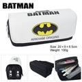 Batman Superman Movie Captain America bag wallet high-capacity double zipper pencil stationery bag wallet