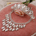 Wedding bridal headdress necklace earrings necklaces wedding jewelry 3 pieces jewelry set indian jewelry bijoux
