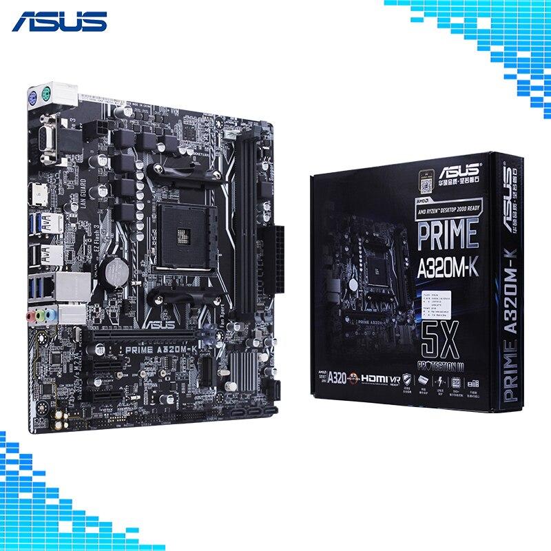 Carte mère ASUS PRIME A320M-K AMD Ryzen AM4 DDR4 HDMI VGA M.2 USB 3.1 micro-atx