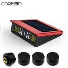 ЖК-дисплей Дисплей Солнечный Мощность CAREUD T86 шины Давление мониторинга Системы TPMS с 4 внешних Сенсор Сменные Батарея PSI/бар режимы