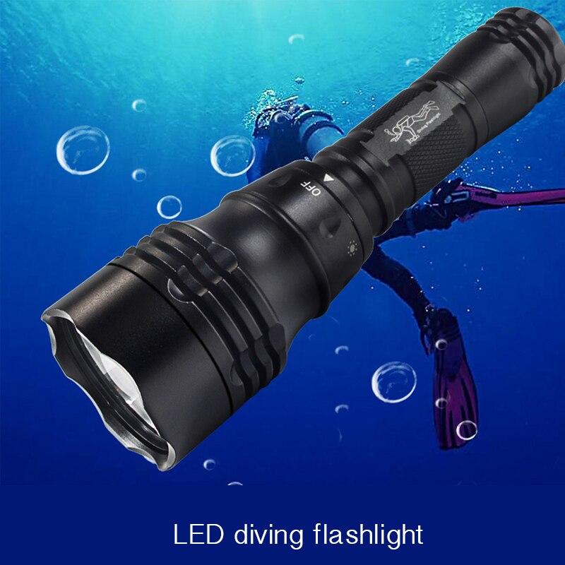 LED High-grade aluminum alloy flashlight, waterproof, strong light flashlight