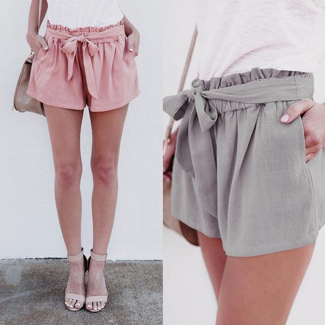 185237d2 Pantalones cortos de verano para mujeres spicy mujeres shorts alta cintura  camisas caseras con arco pantalones
