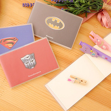 Cute Convenient Super Heroes Themed Kid's Mini Notebook