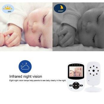 Außenstromversorgung | 2,4 Inch LCD Baba Eletronica Com Kamera Visao Brushless-drohne Noturna Com Audio IR Nachtsicht Temperatur Monitor Lullabies Intercom 2X Zoom