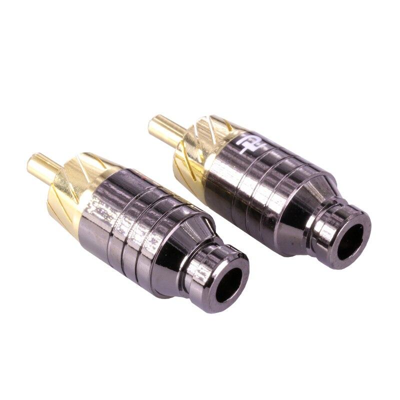 2 шт./1 пара Роскошные пайки RCA разъем Jack Разъем Динамик аудио Выход/Вход адаптер позолоченный штекер разъем для наушников Jack