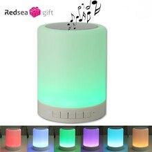 Беспроводной динамик bluetooth стерео звук, красочные сенсорный светодиодные лампы музыкальный плеер светодиодные лампы bluetooth-динамик с USB TF FM