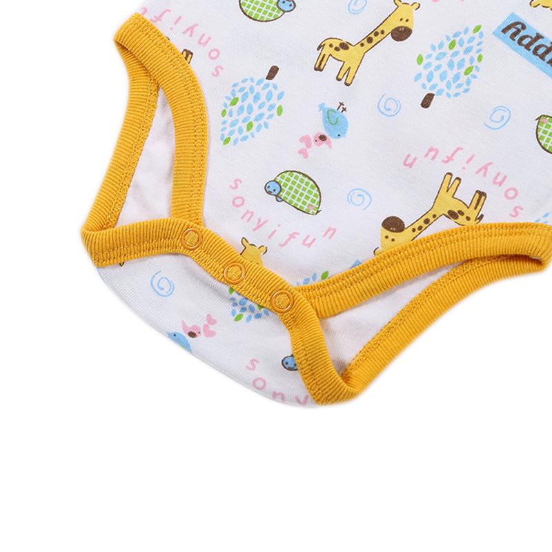 Newborn Baby Bodysuit Mother nest 2017 New Style Short Sleeve Print Little Ship Body Rope Bebe Boys Girls Clothes  (4)