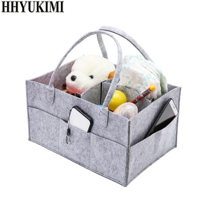 HHYUKIMI Baby Diaper Caddy Organizer Nursery Storage Bag for Diapers Wipes & Toys Portable Car Storage Basket Baby Gift bag